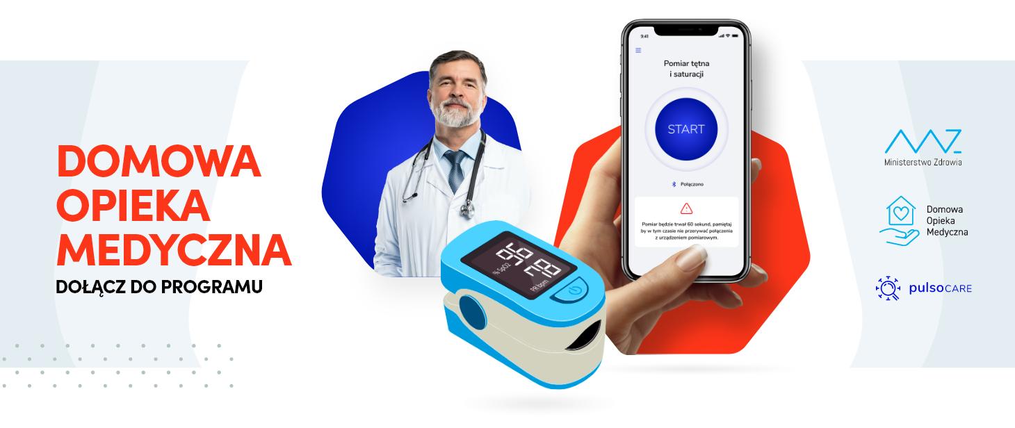 Pulsoksymetr i aplikacja na telefon. Tak będzie się sprawdzać stan pacjentów - Zdjęcie główne