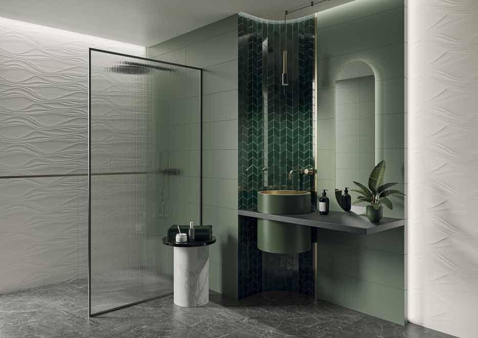 Łazienka w kolorze zielonym - Zdjęcie główne