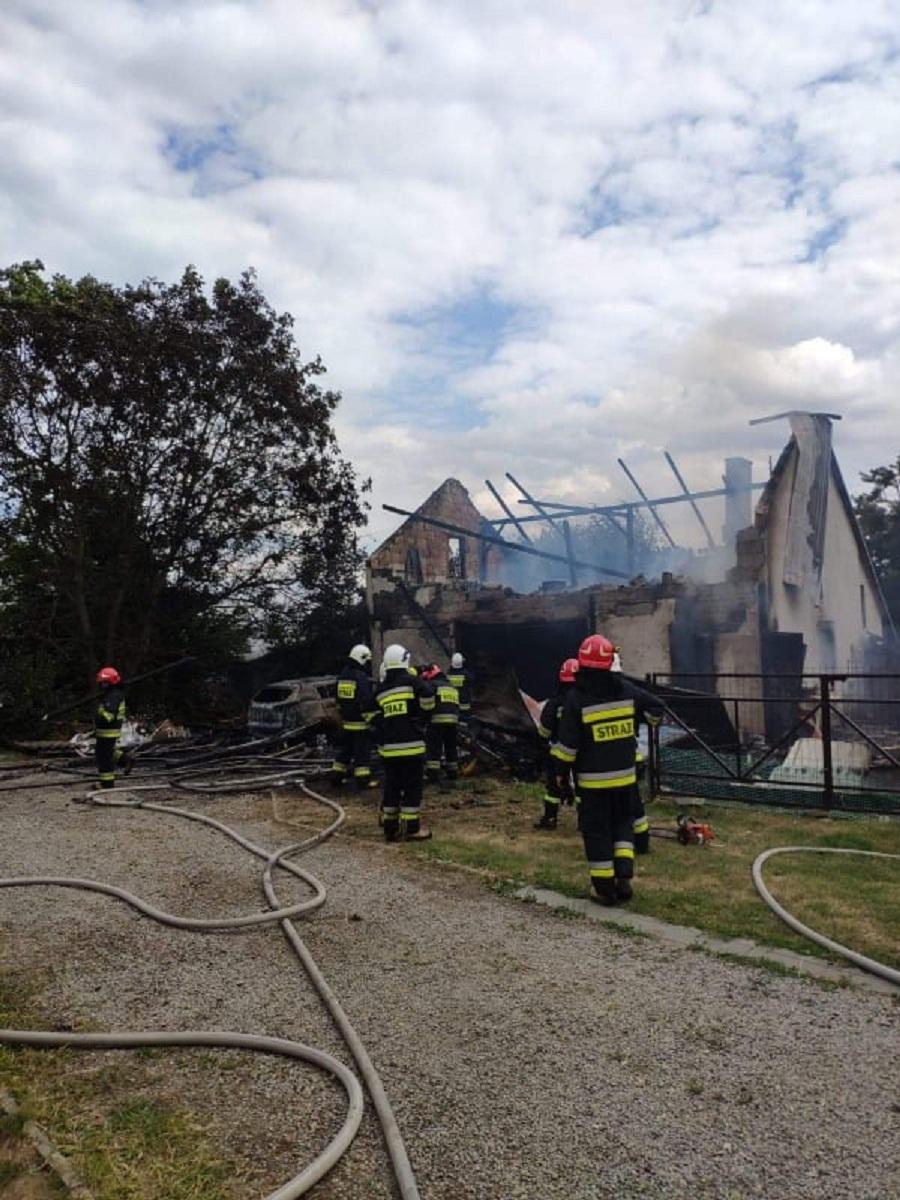 Pożar w Tuszymie! Płonie budynek - Zdjęcie główne