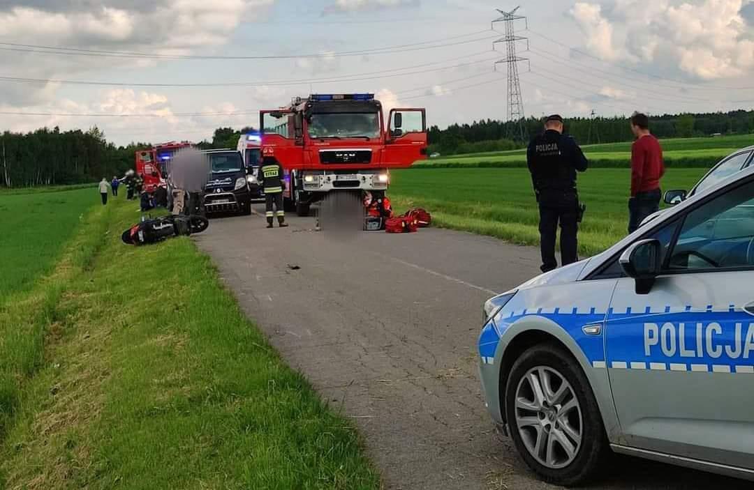 Tragiczny wypadek. Nie żyje motocyklista! - Zdjęcie główne
