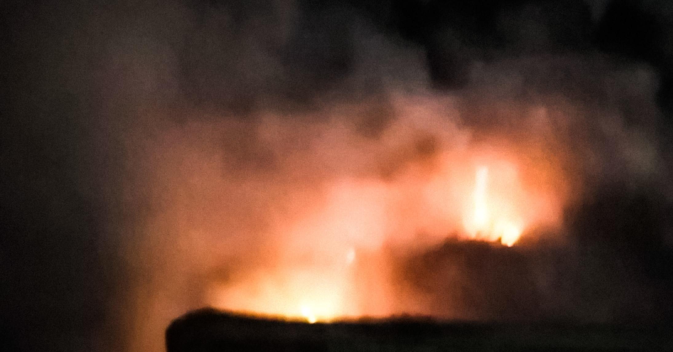 Pożar śmieci na cmentarzu! [FOTO] - Zdjęcie główne