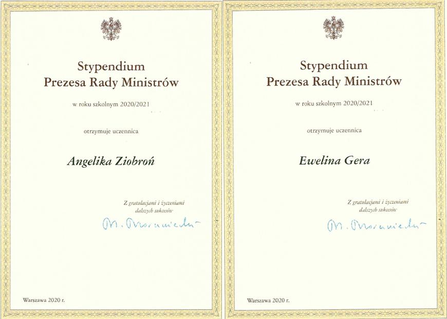 Ewelina i Angelika ze stypendium premiera  - Zdjęcie główne
