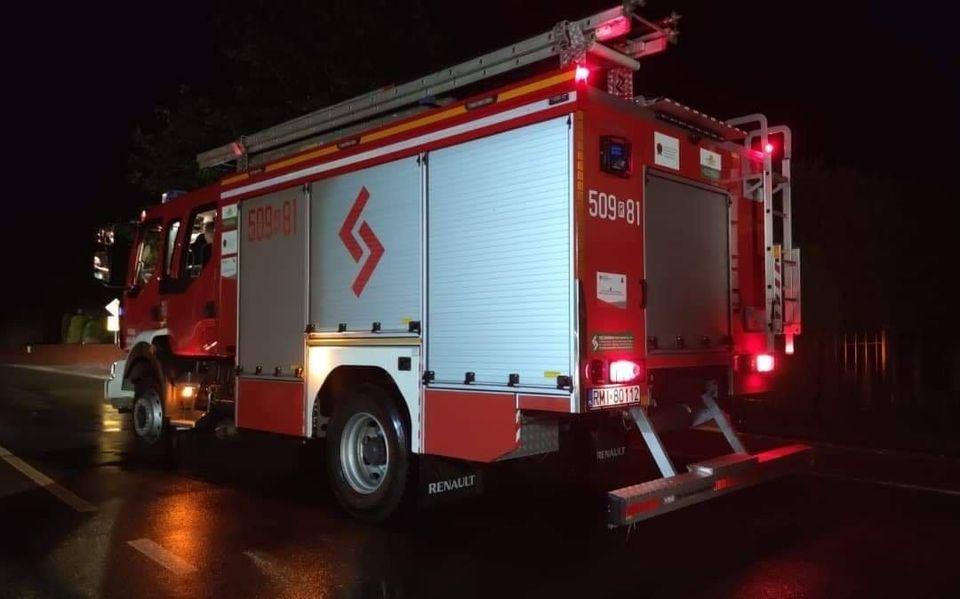 Nocny pożar w Jaślanach  - Zdjęcie główne