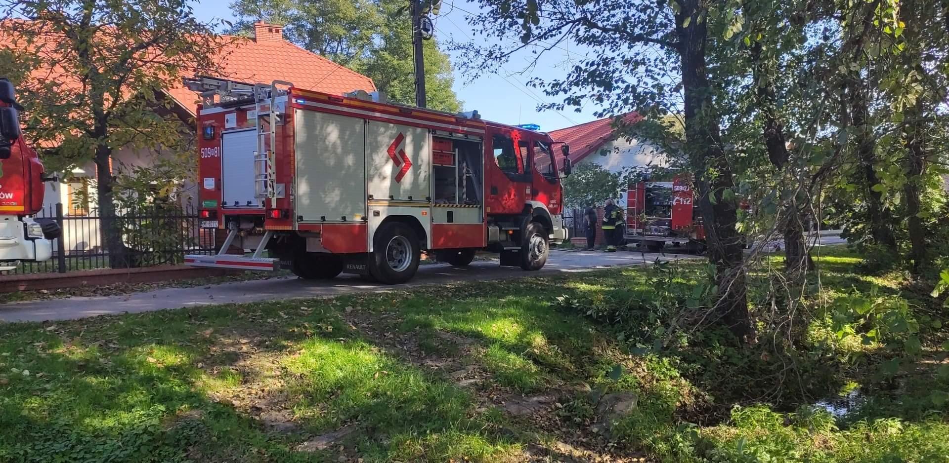 Pożar kotłowni w gminie Gawłuszowice. Strażacy w akcji [ZDJĘCIA] - Zdjęcie główne