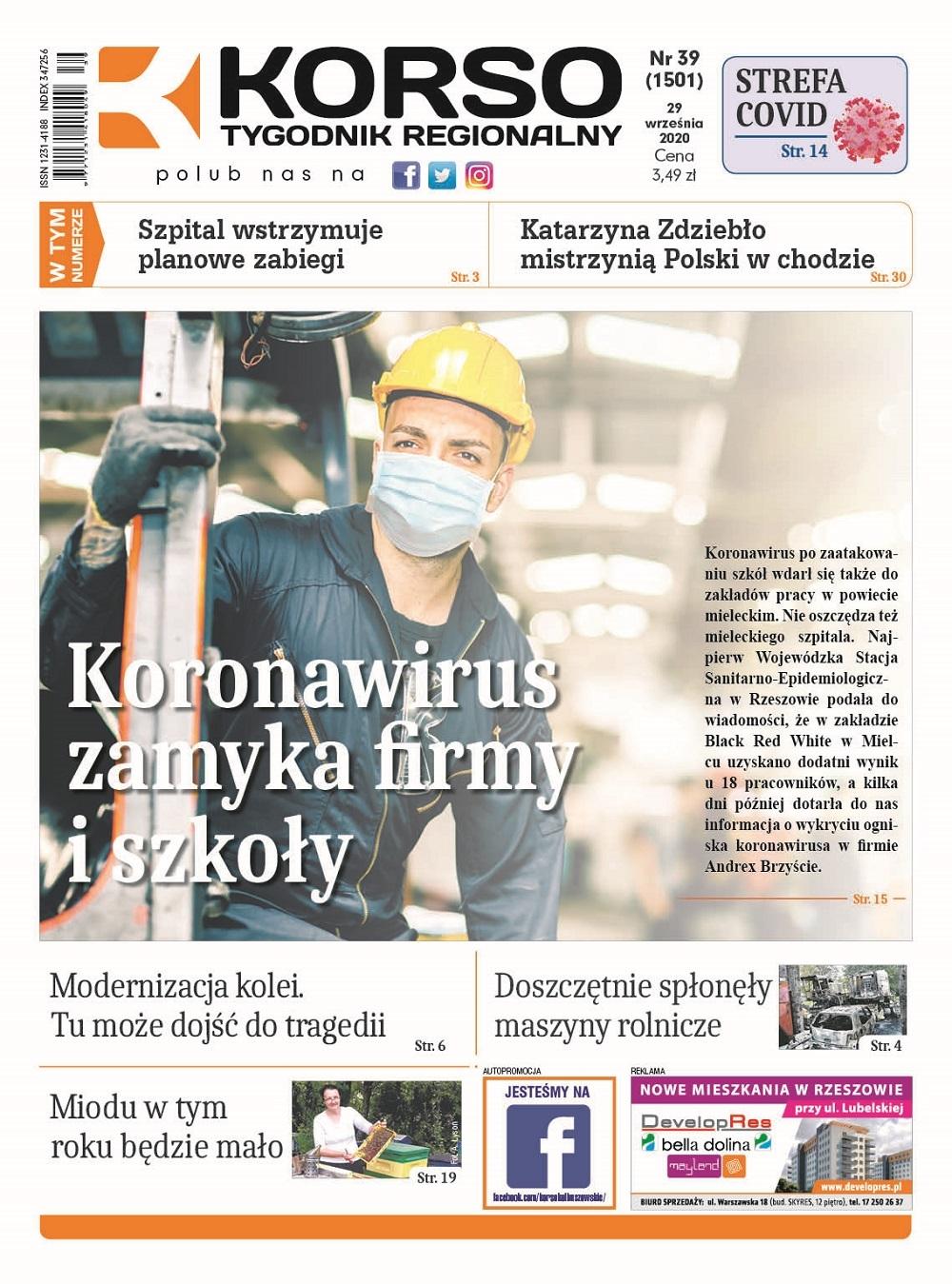 Tygodnik Regionalny KORSO nr 39/2020 - Zdjęcie główne