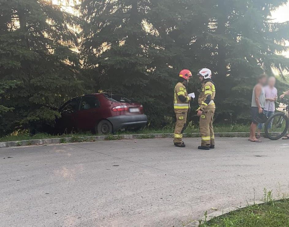 Groźnie w Dulczy Wielkiej. Samochód uderzył w drzewo - Zdjęcie główne