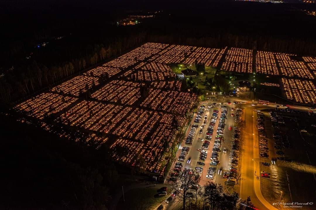 Mieleckie cmentarze z drona! Te zdjęcia robią wrażenie - Zdjęcie główne