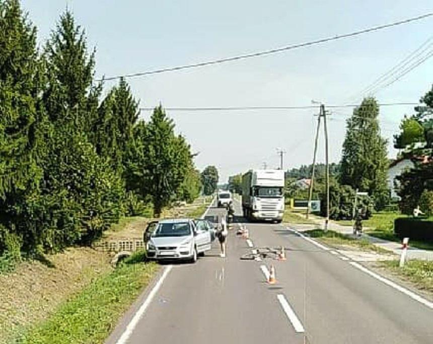 Potrącenie rowerzysty - Zdjęcie główne