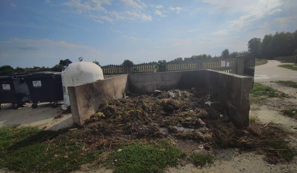 Pożar odpadów przy cmentarzu [FOTO, VIDEO] - Zdjęcie główne
