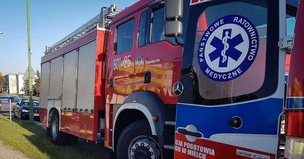 Z OSTATNIEJ CHWILI! Zderzenie samochodów na wiadukcie w Mielcu!  - Zdjęcie główne