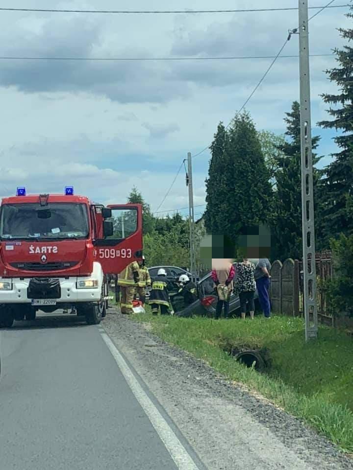 Niebezpieczny wypadek w Wadowicach Górnych - Zdjęcie główne