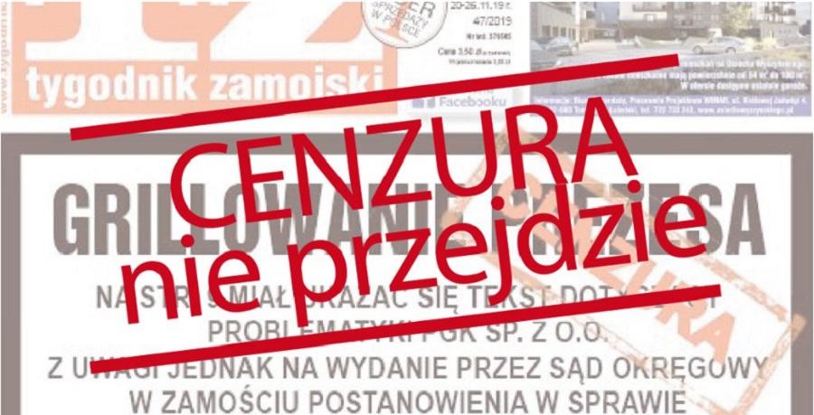 Cenzura nie przejdzie! Publikujemy zakazane teksty Tygodnika Zamojskiego - Zdjęcie główne