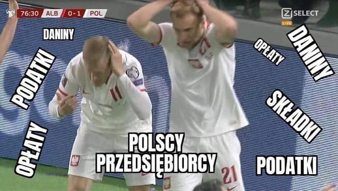 Tirana zdobyta. Zobacz najlepsze memy po meczu Albania - Polska - Zdjęcie główne