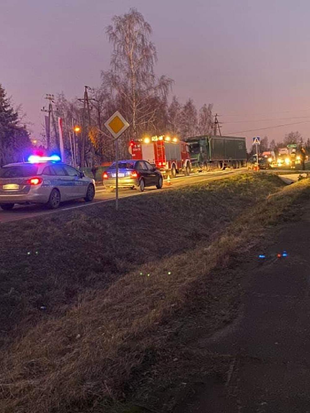 Poranna kolizja na drodze Mielec - Radomyśl Wielki - Zdjęcie główne