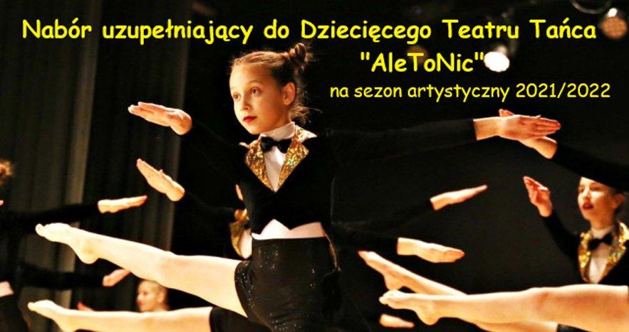 """Teatr tańca """"Ale to nic"""" szuka nowych tancerek!  - Zdjęcie główne"""