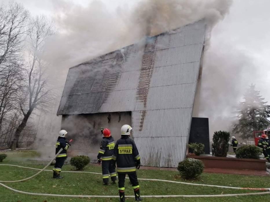 Z REGIONU: Spłonęła cmentarna kaplica - Zdjęcie główne