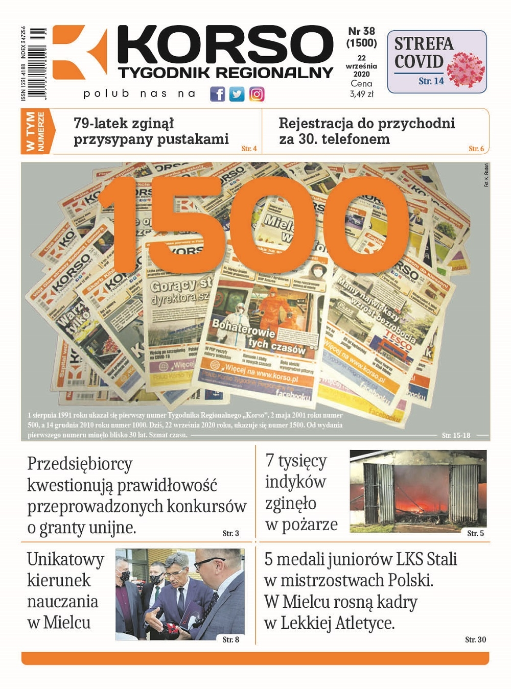 Tygodnik Regionalny KORSO nr 38/2020 [1500 numer] - Zdjęcie główne