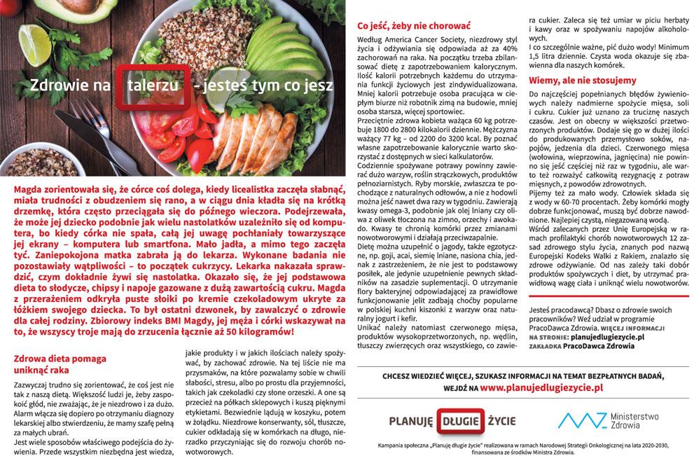 Zdrowie na talerzu - jesteś tym co jesz - Zdjęcie główne