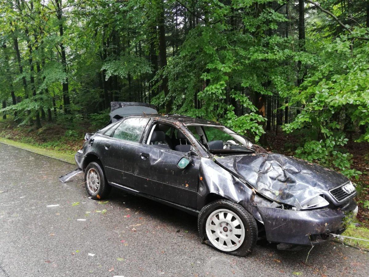 KOLBUSZOWA: Tragiczny wypadek w Trześni. Nie żyje 23-latek [ZDJĘCIA] - Zdjęcie główne
