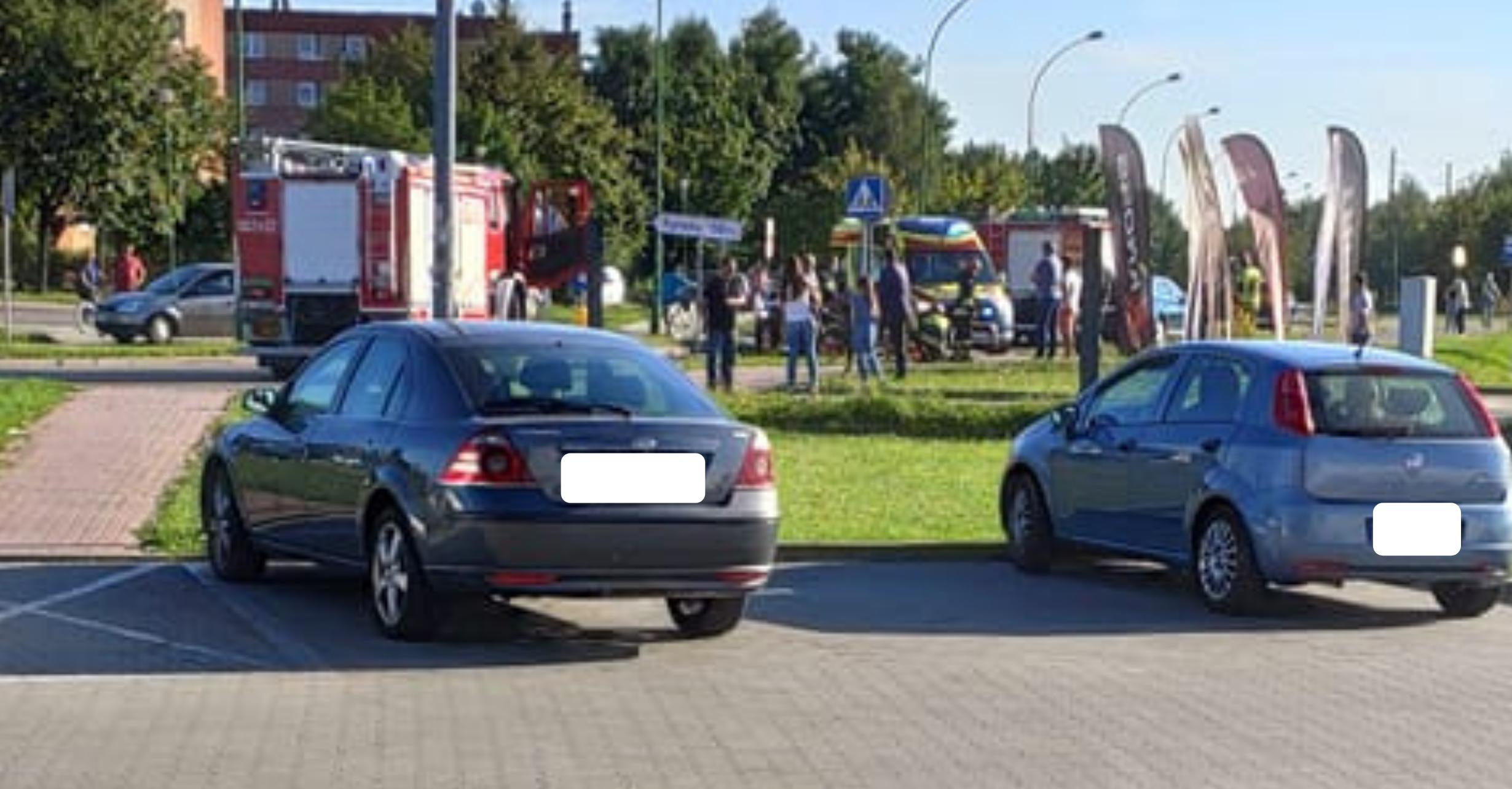 Wypadek motocyklisty na ulicy Szafera w Mielcu - Zdjęcie główne