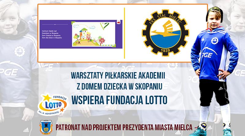 Świetna akcja Akademii Piłkarskiej PGE FKS Stal Mielec. Warsztaty sportowe dla Domu Dziecka  - Zdjęcie główne