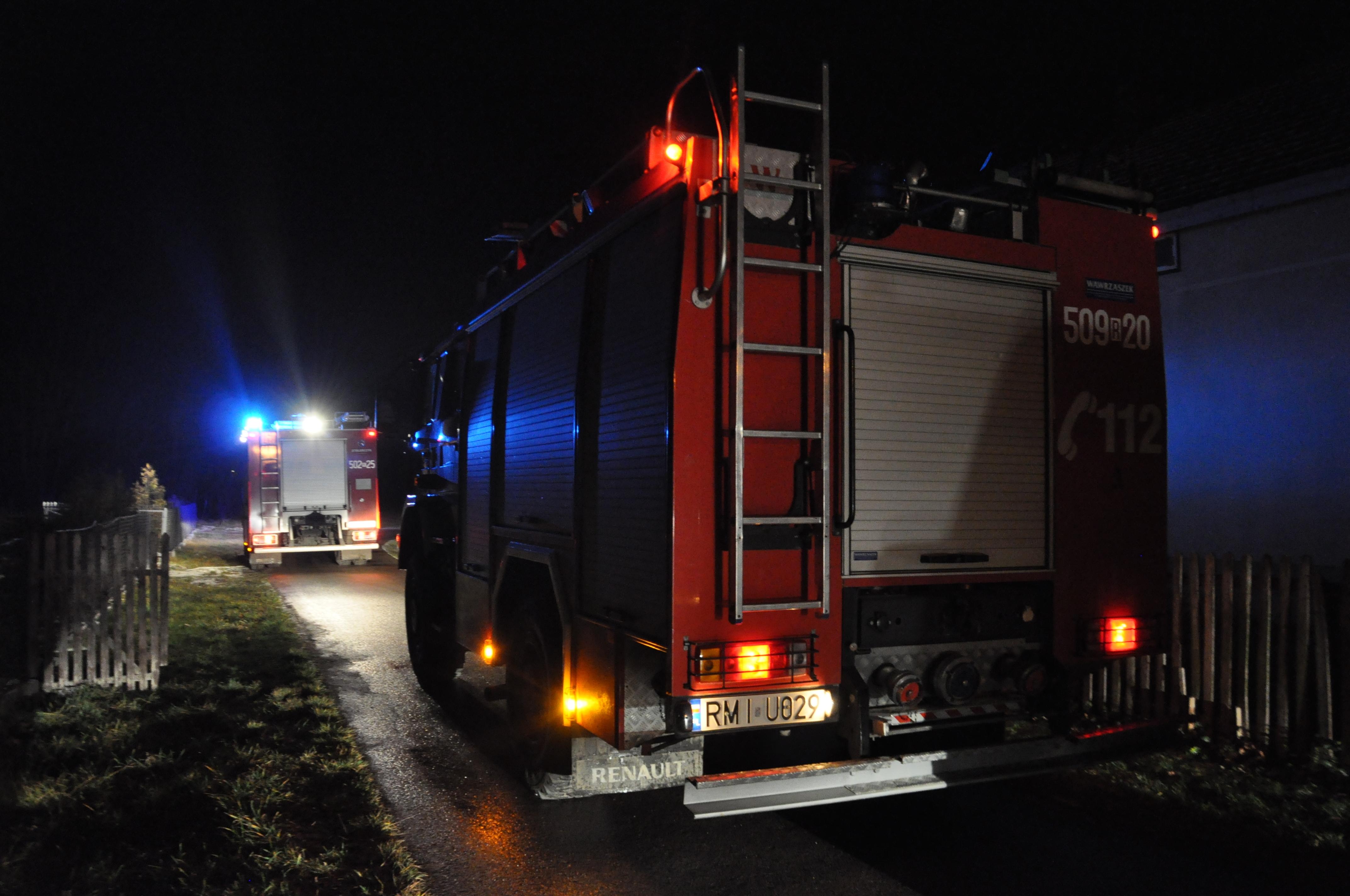 Pożar w Dobryninie - Zdjęcie główne