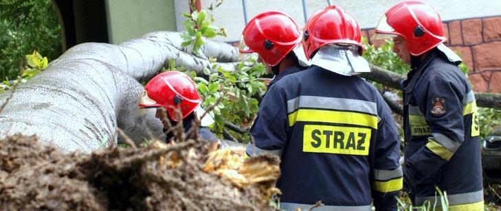 Strażacy usuwali skutki burz - Zdjęcie główne