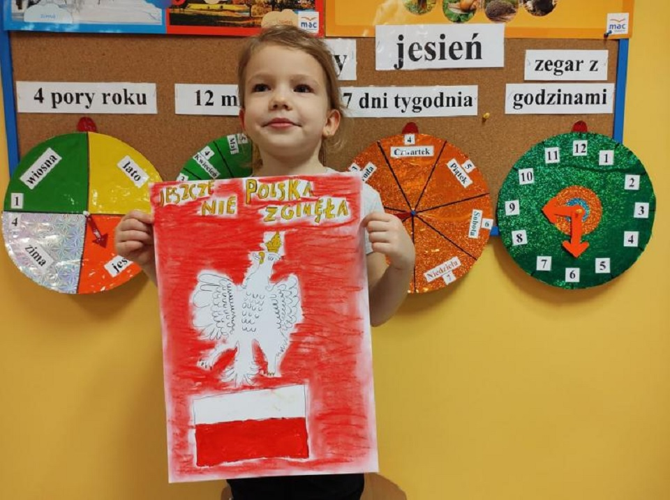 Sukces wychowanki przedszkola w Rzemieniu. Narysowała Godło Polski - Zdjęcie główne