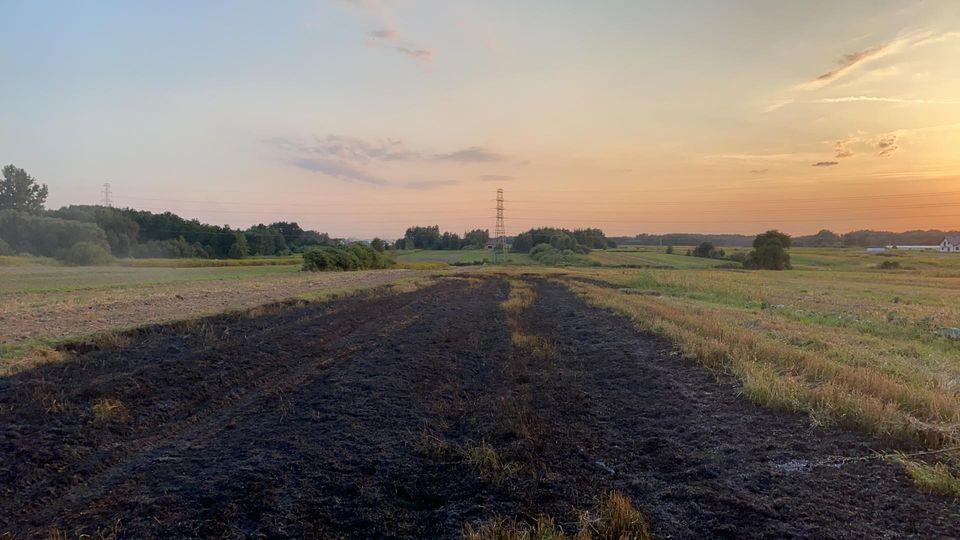 Kolejny pożar ścierniska - Zdjęcie główne