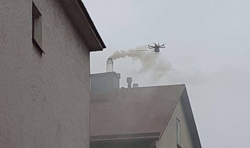 Drony kontrolowały, czym palą mielczanie - Zdjęcie główne