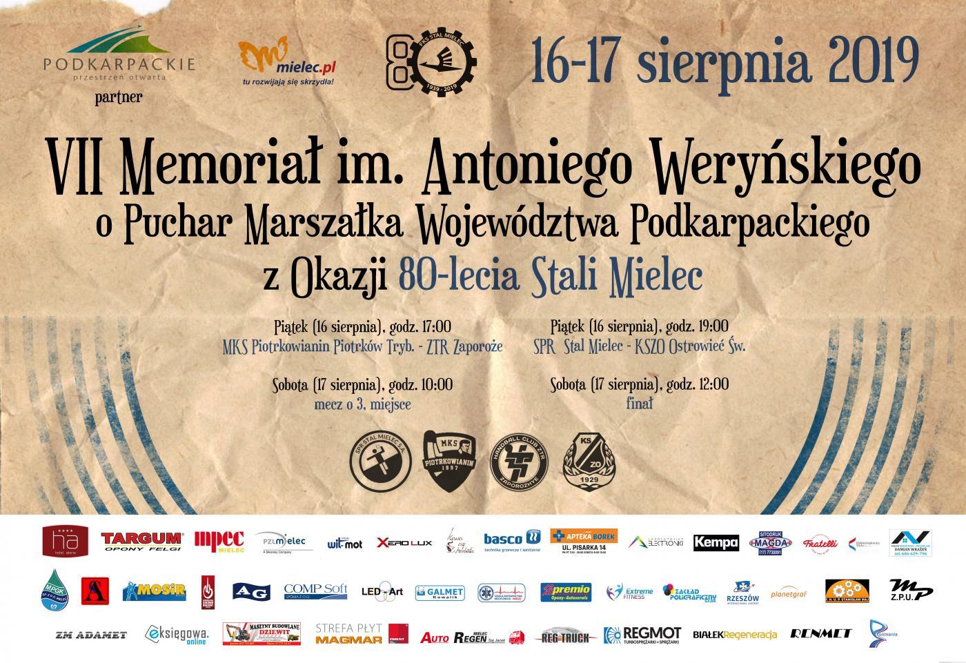 Memoriał im. Antoniego Weryńskiego w Mielcu. Turniej ku pamięci znakomitego prezesa SPR Stali Mielec  - Zdjęcie główne