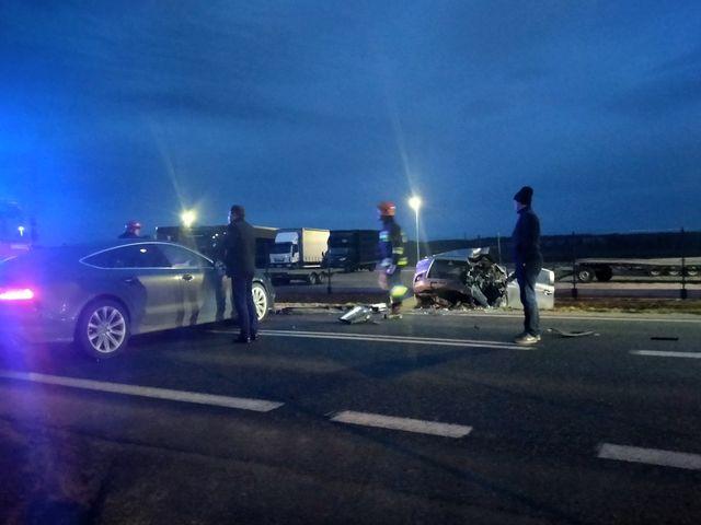 Wypadek na drodze Mielec - Dębica - Zdjęcie główne
