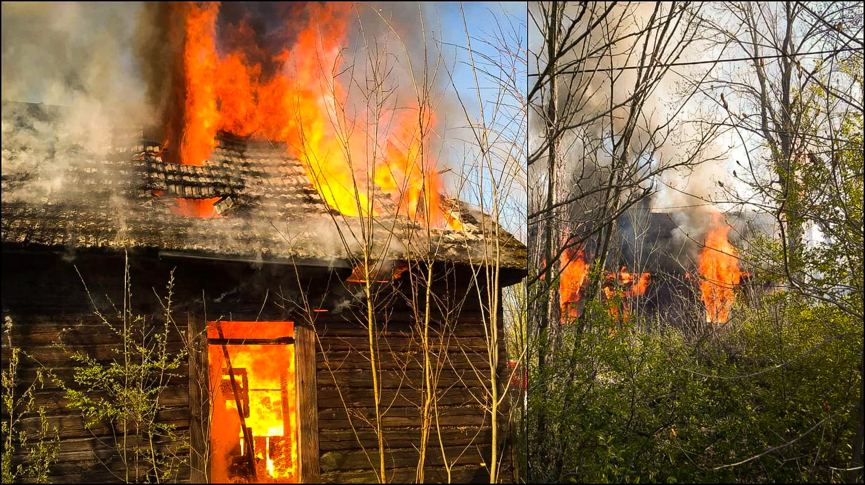 Pożar domu - Zdjęcie główne