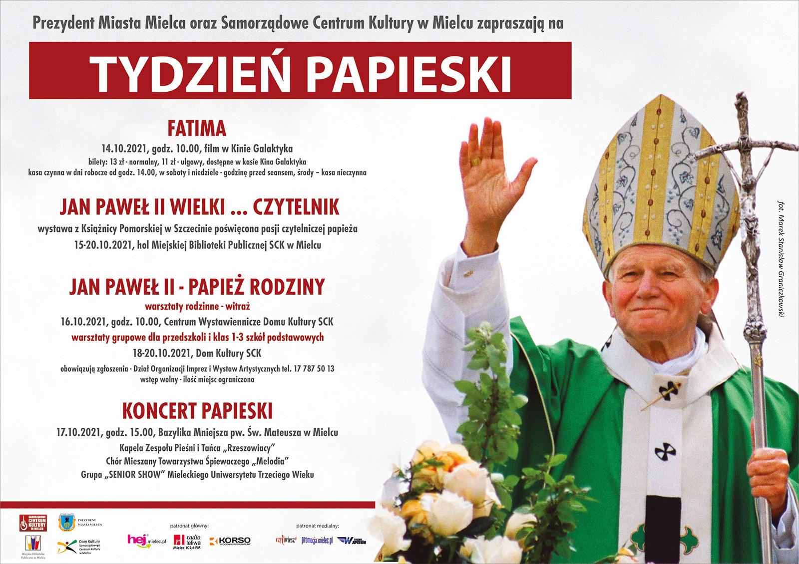 Tydzień Papieski w Mielcu. Warsztaty i koncerty dla dzieci i dorosłych [PLAKAT] - Zdjęcie główne