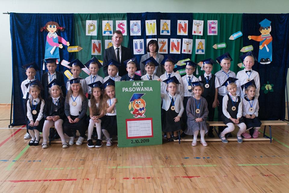 Pasowanie na ucznia w Szkole Podstawowej w Gawłuszowicach [FOTO] - Zdjęcie główne