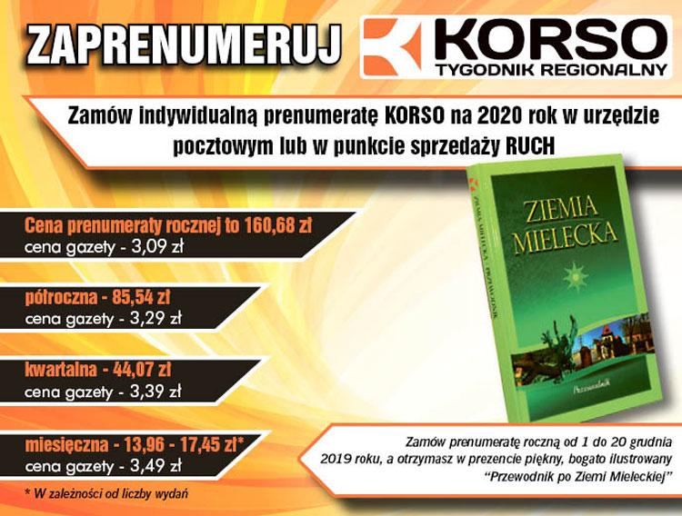 Prenumerata Korso na 2020 rok - Zdjęcie główne