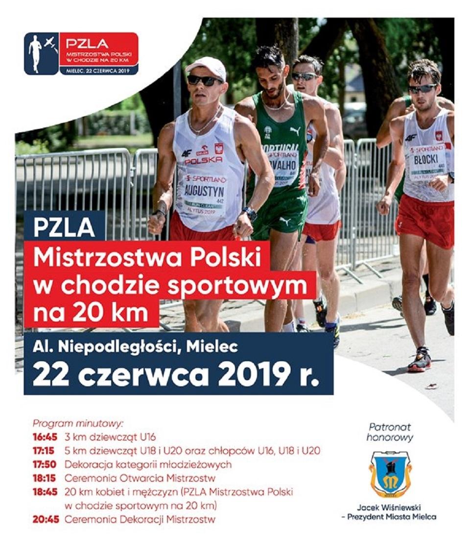 W związku z Mistrzostwami Polski w Chodzie Sportowym w Mielcu, będą utrudnienia w komunikacji - Zdjęcie główne