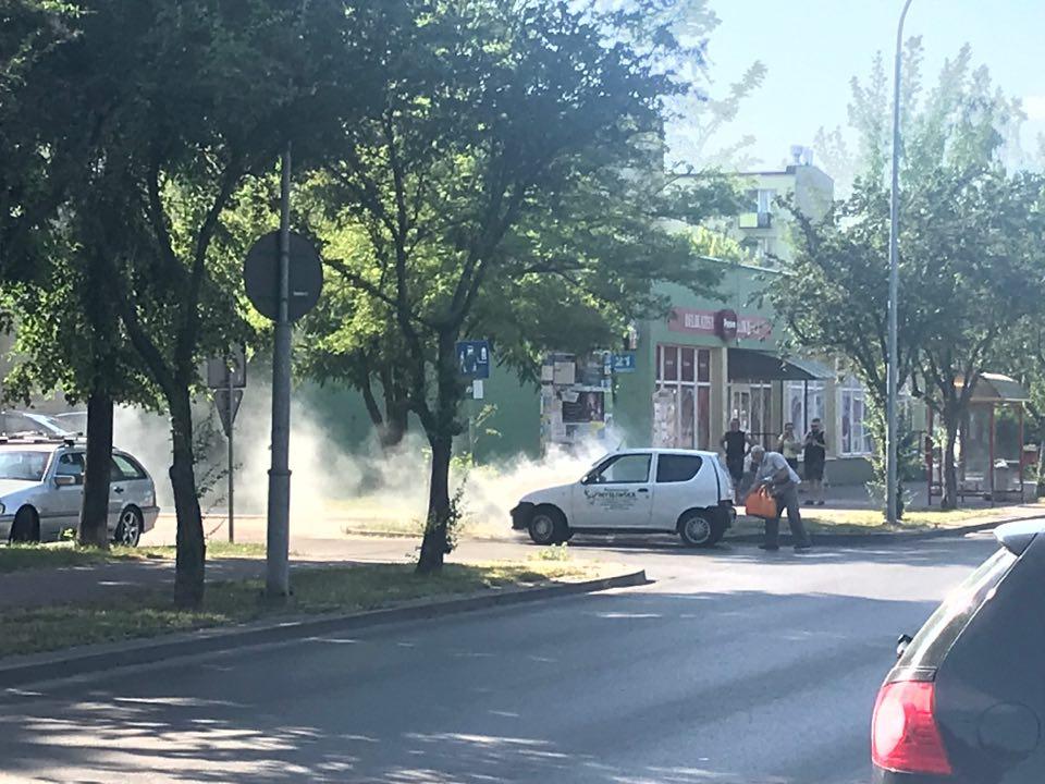 Z ostatniej chwili: pożar samochodu! - Zdjęcie główne