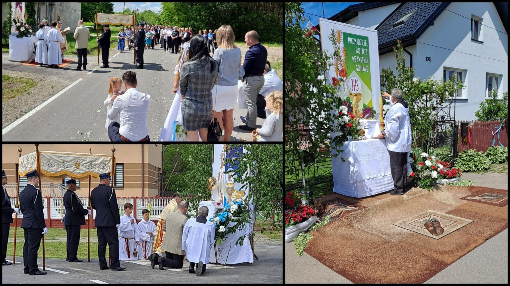 Procesja Bożego Ciała w parafii Borki Nizińskie [ZDJĘCIA] - Zdjęcie główne