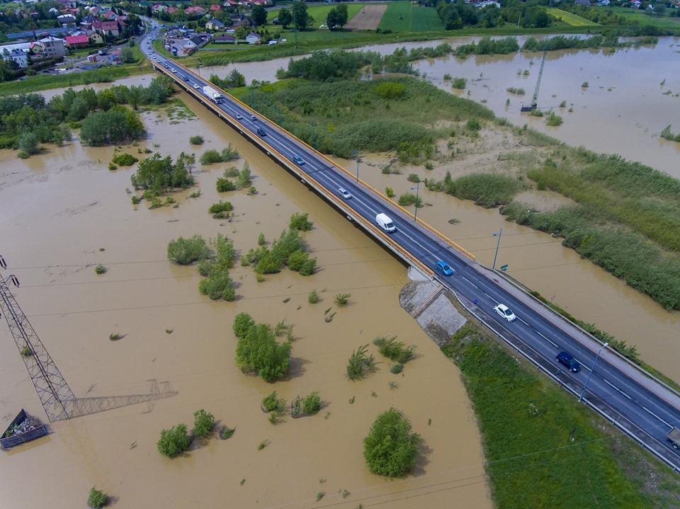 Jak wyglądają tereny zalewowe w okolicach Wisłoki? Mamy zdjęcia z drona [FOTO] - Zdjęcie główne