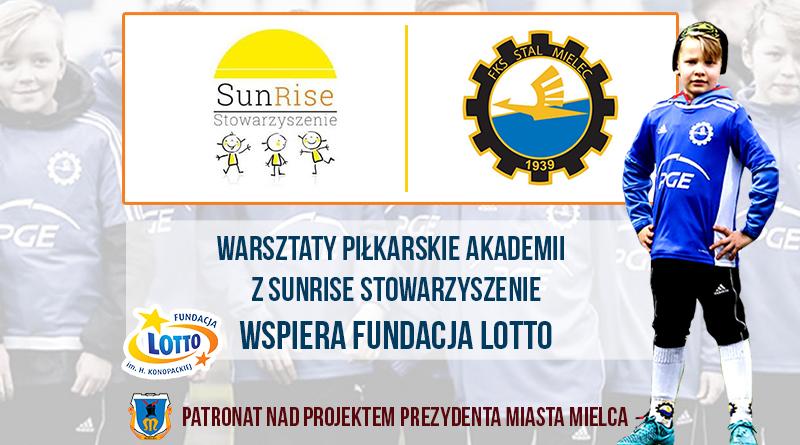 Akademia PGE FKS Stal Mielec przeprowadziła kolejne warsztaty sportowe. Tym razem z podopiecznymi Stowarzyszenia SUNRISE.  - Zdjęcie główne