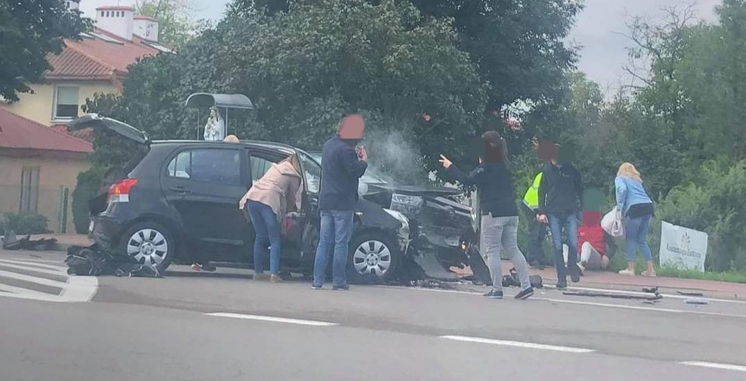 Zablokowana droga na Sienkiewicza. Są osoby ranne [ZDJĘCIA] - Zdjęcie główne