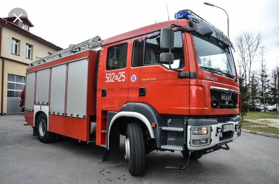 Pożar ścierniska w Zadusznikach - Zdjęcie główne