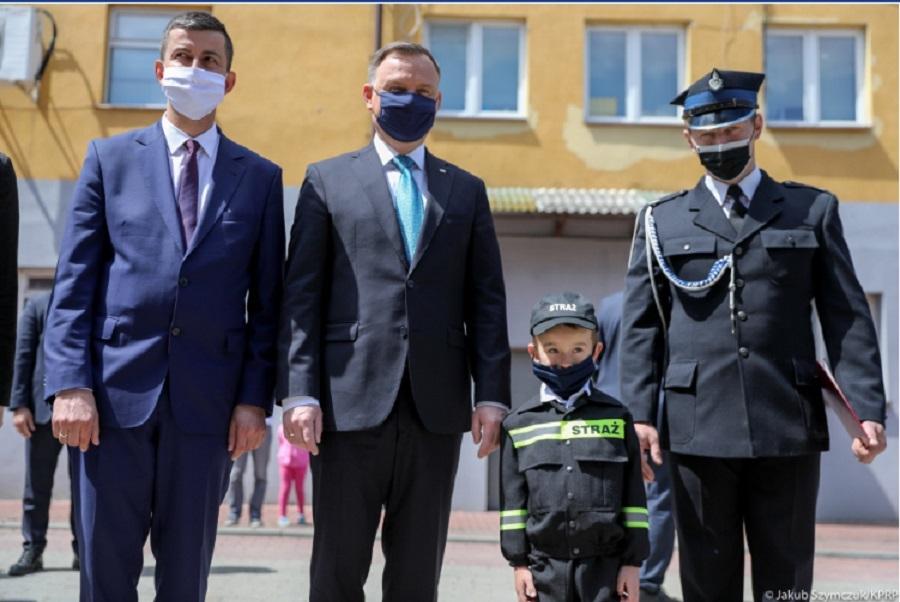 Prezydent Andrzej Duda odwiedził bieszczadzkich strażaków [FOTO] - Zdjęcie główne