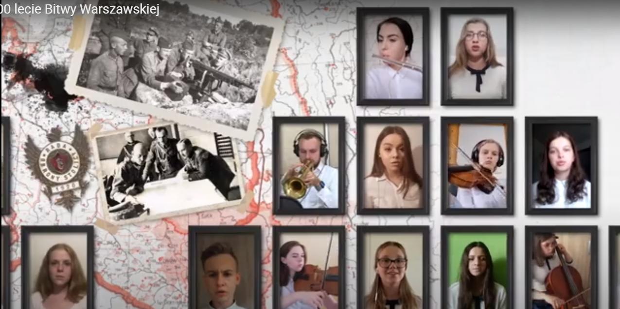 Mielecka młodzież z I LO w nietypowy sposób uczciła setną rocznicę Bitwy Warszawskiej [VIDEO] - Zdjęcie główne
