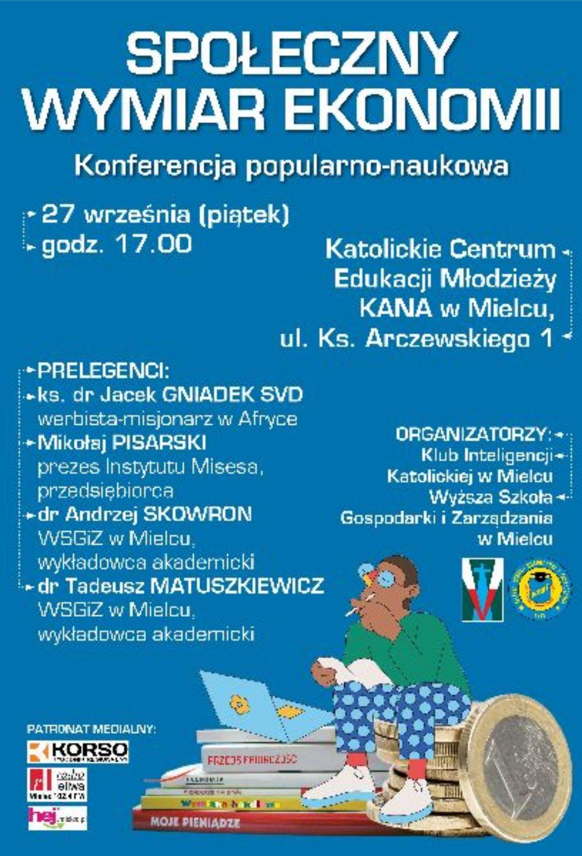 W piątek bardzo ciekawe wykłady na temat ekonomii w Mielcu - Zdjęcie główne