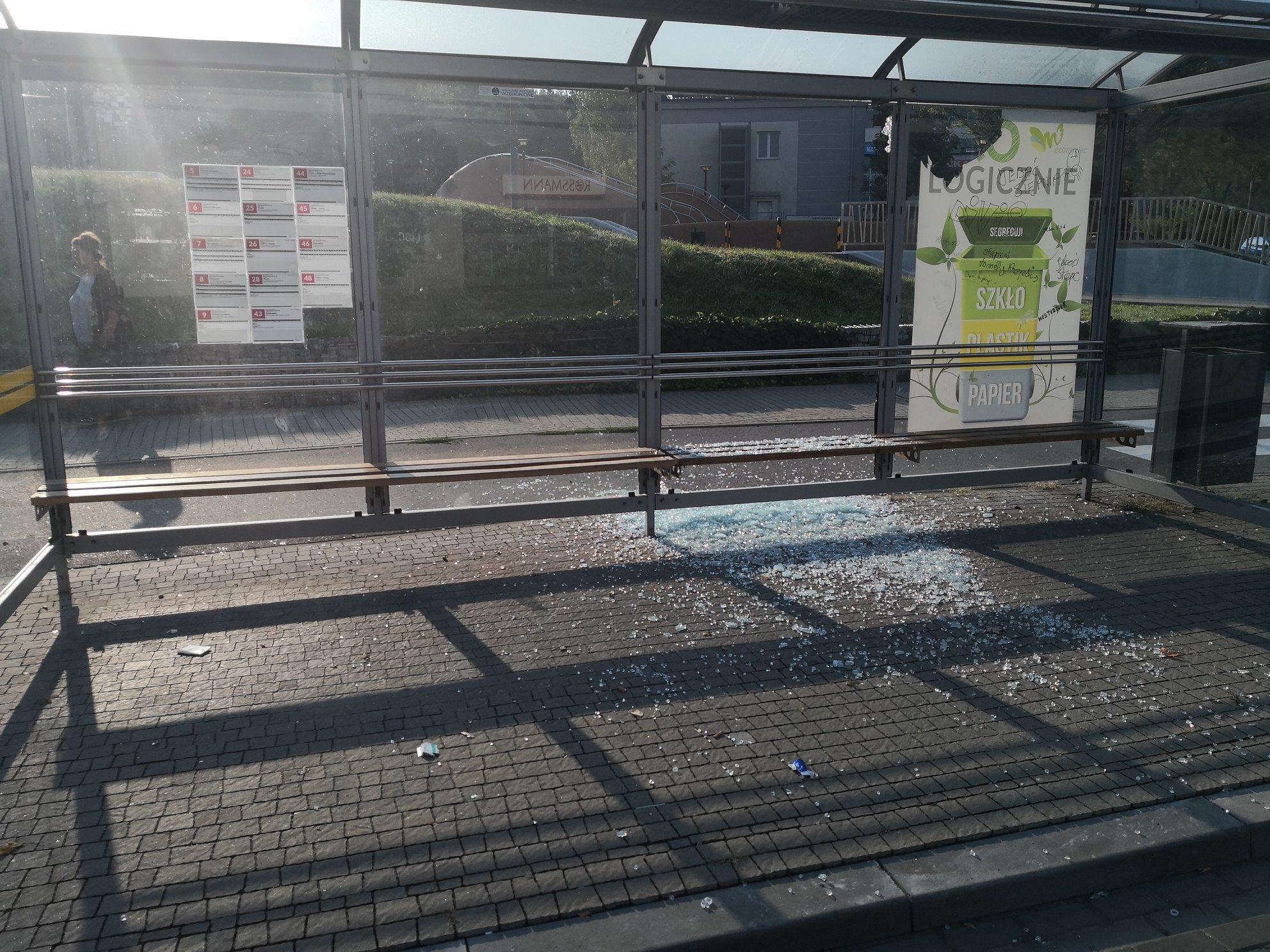 Seria dewastacji przystanków autobusowych w Mielcu!  - Zdjęcie główne