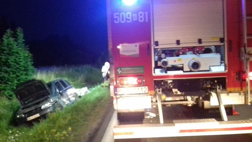 Wypadek w Jaślanach. Utrudnienia na drodze relacji MIelec - Tarnobrzeg - Zdjęcie główne
