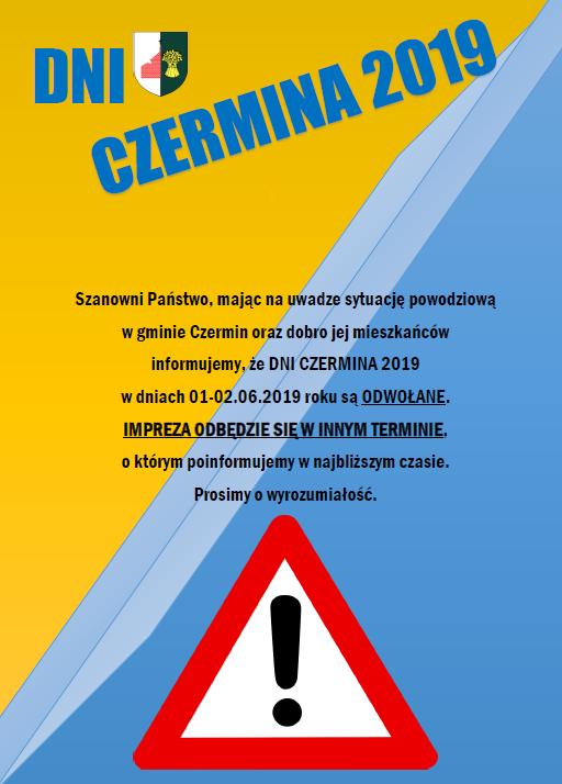 Dni Czermina 2019 odwołane! - Zdjęcie główne