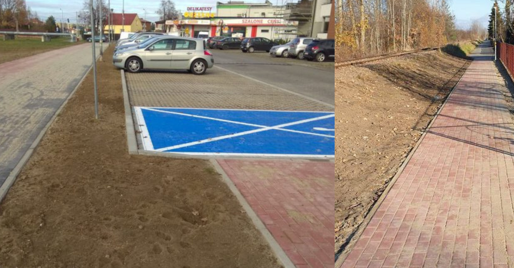 Powstały nowe miejsca parkingowe i nowe chodniki w Mielcu - Zdjęcie główne